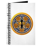Gold-Blue Goddess Pentacle Journal