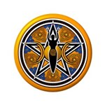 Gold-Blue Goddess Pentacle 3.5