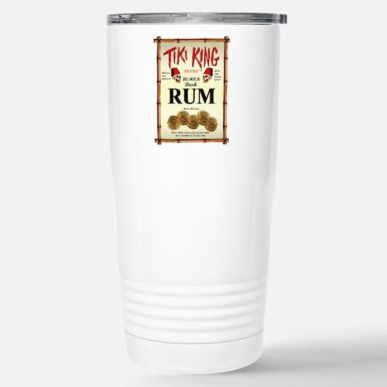 Tiki King Luau Rum Label Stainless Steel Travel Mu