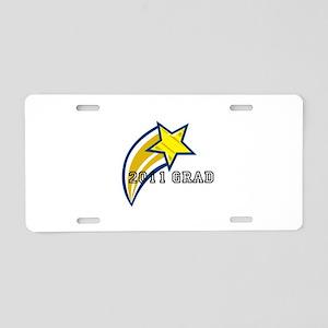 """""""2011 Grad"""" Aluminum License Plate"""