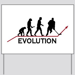 Hockey Evolution Yard Sign