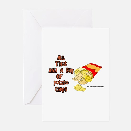 All That and a Bag of Chips Greeting Cards (Packag