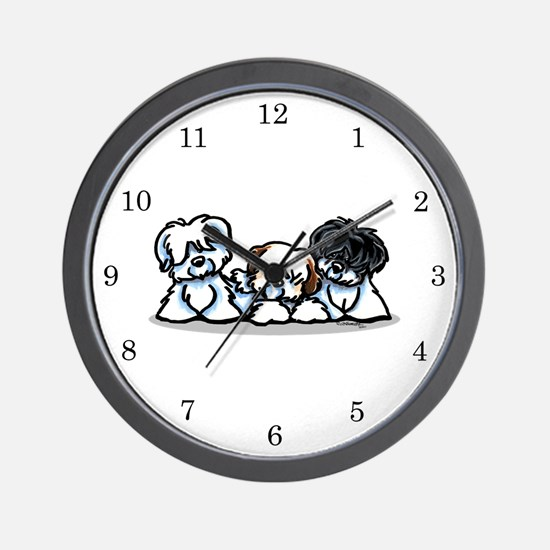 Three Cotons Wall Clock