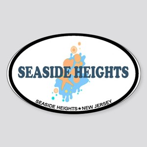 Sandy Hook NJ - Seashells Design Sticker (Oval)