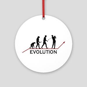 Golf Evolution Ornament (Round)