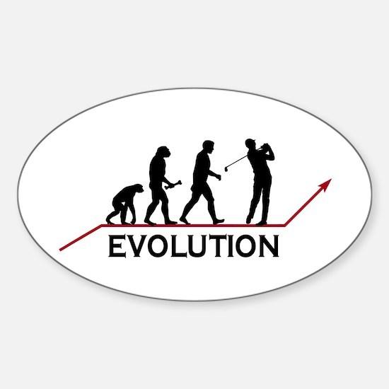 Golf Evolution Sticker (Oval)