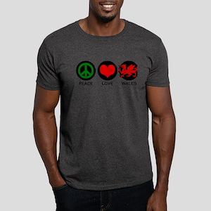 Peace Love Wales Dark T-Shirt