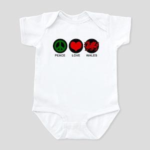 Peace Love Wales Infant Bodysuit
