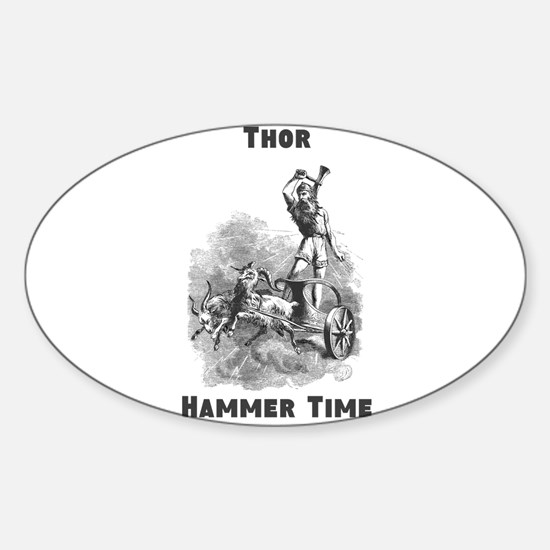 Thor, Hammer Time Sticker (Oval)