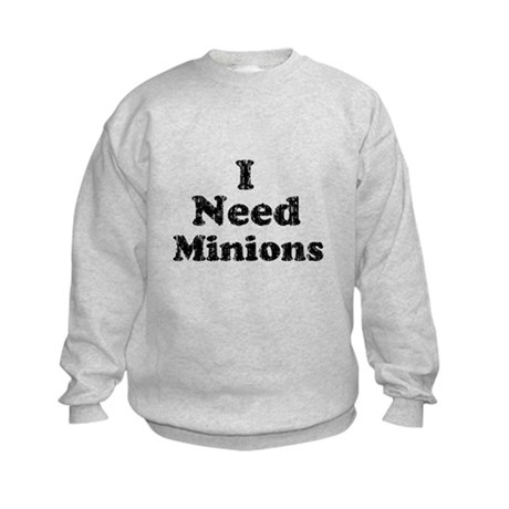 Vintage I Need Minions Kids Sweatshirt