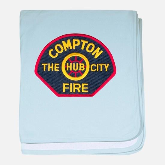 Compton Fire Department baby blanket