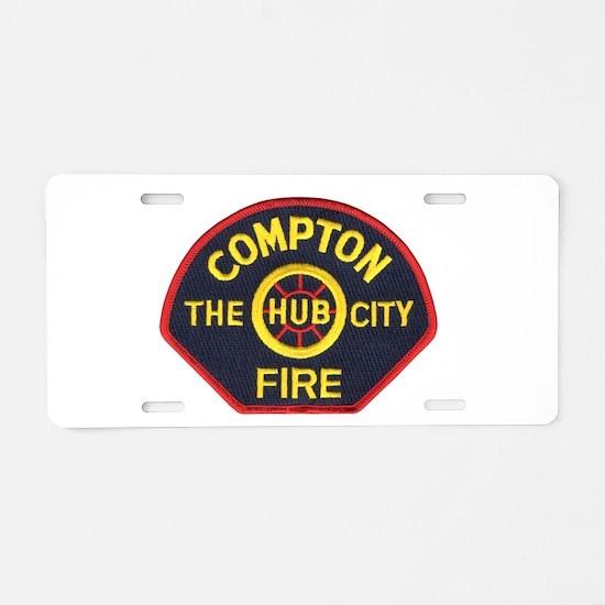 Compton Fire Department Aluminum License Plate