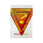 Caution Rectangle Magnet (100 pack)