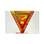 Caution Rectangle Magnet (10 pack)