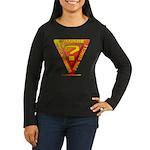 Caution Women's Long Sleeve Dark T-Shirt