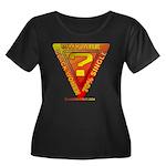 Caution Women's Plus Size Scoop Neck Dark T-Shirt