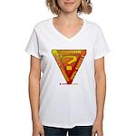Caution Women's V-Neck T-Shirt
