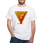 Caution White T-Shirt