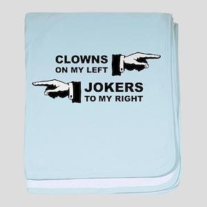 Clowns & Jokers baby blanket