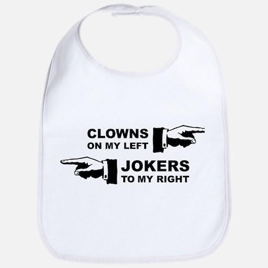 Clowns & Jokers Bib