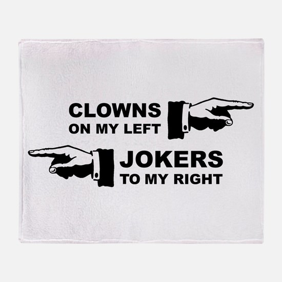 Clowns & Jokers Throw Blanket