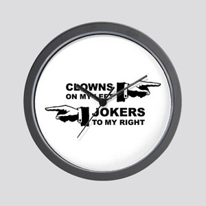Clowns & Jokers Wall Clock