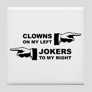 Clowns & Jokers Tile Coaster
