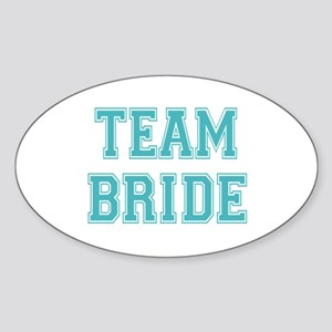 Team Bride Sticker (Oval)