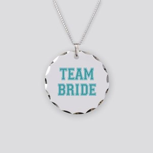 Team Bride Necklace Circle Charm