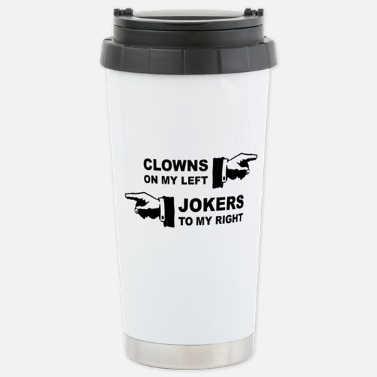 Clowns & Jokers Stainless Steel Travel Mug
