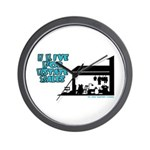 I Live For Estate Sales Wall Clock