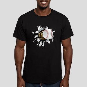 Baseball Burster Men's Fitted T-Shirt (dark)