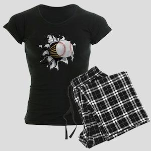 Baseball Burster Women's Dark Pajamas