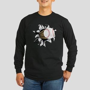 Baseball Burster Long Sleeve Dark T-Shirt