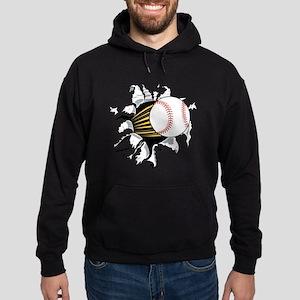Baseball Burster Hoodie (dark)