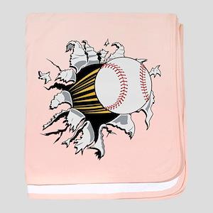 Baseball Burster baby blanket