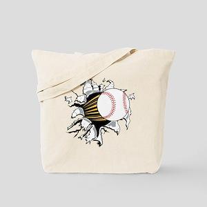 Baseball Burster Tote Bag