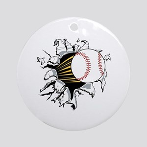 Baseball Burster Ornament (Round)