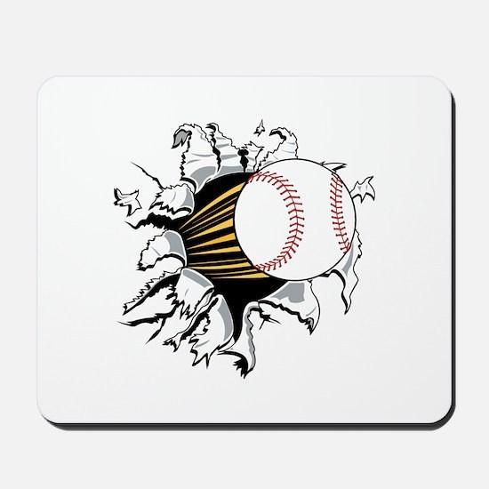 Baseball Burster Mousepad
