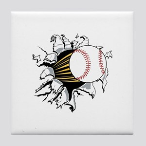 Baseball Burster Tile Coaster