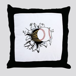 Baseball Burster Throw Pillow