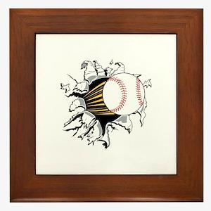 Baseball Burster Framed Tile