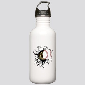 Baseball Burster Stainless Water Bottle 1.0L