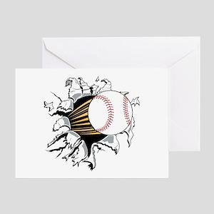 Baseball Burster Greeting Card