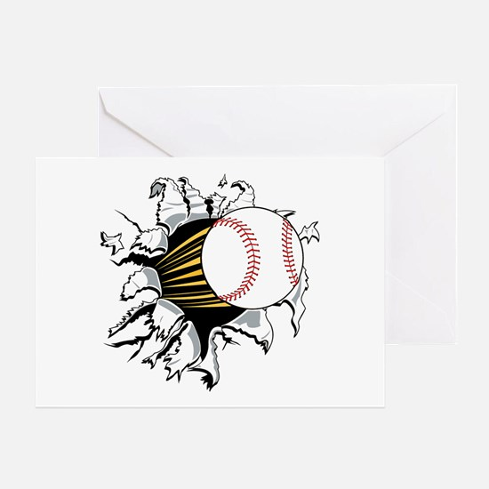 Baseball Burster Greeting Card