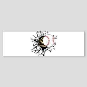Baseball Burster Sticker (Bumper)