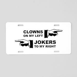 Clowns & Jokers Aluminum License Plate