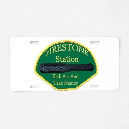 Firestone Station KAATN Aluminum License Plate