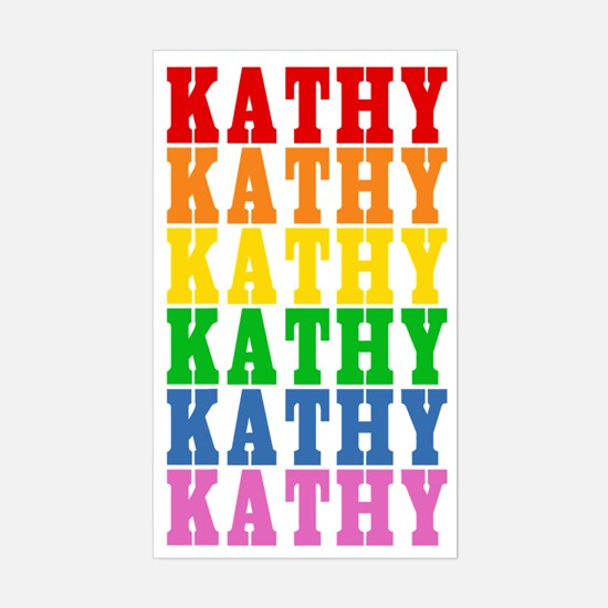 Rainbow Name Sticker (Rectangle)
