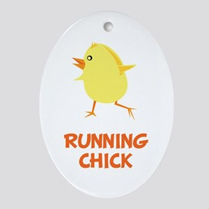 Running Chick Ornament (Oval)